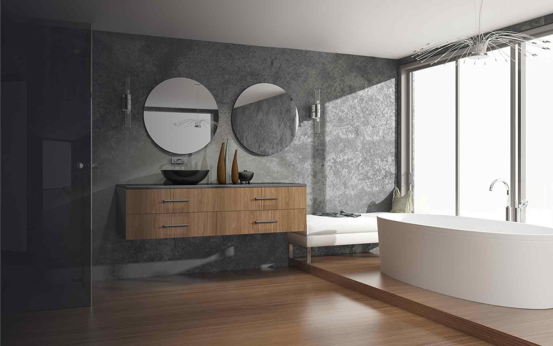 Designer d'intérieur montréal salle-de-bain-moderne Milton parc